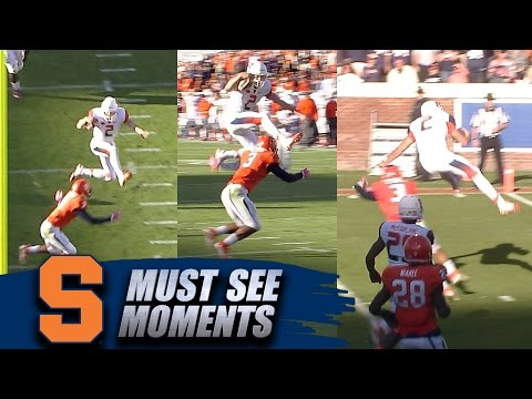 Syracuse Football: Eric Dungey Hurdles UVA Defender on TD Run