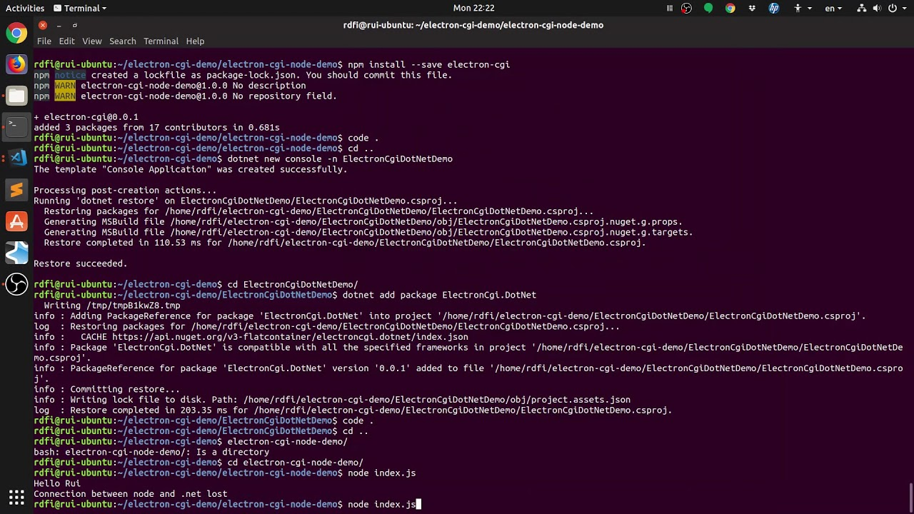 ElectronCGI - Cross Platform  Net Core GUIs with Electron - The