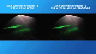 TeeJet AI3070 Twin Spray Tip Drift Demo