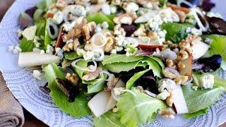 Pear & Walnut Salad With A Pear Vinaigrette