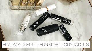 DRUGSTORE Foundation Sticks | Hits & Misses - Demo + Mini Reviews