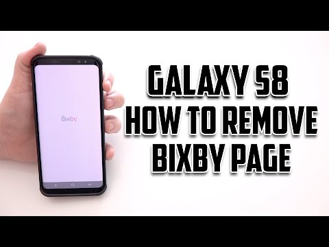 Samsung Galaxy S8 How to Remove Bixby Home Page - YouTube
