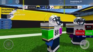 [ Roblox Legendary Football #5 ] LAC vs Steelers 59-25