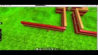 Building a Fire Castle in Roblox part 1