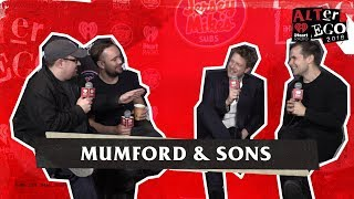 Mumford & Sons Talks With Woody & Harms Backstage at ALTer Ego