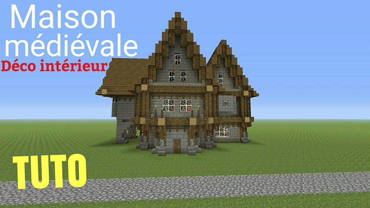 Tuto minecraft maison m di vale d co int rieur ps4 ps3 for Decoration maison minecraft