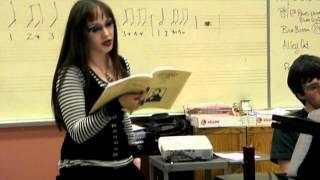 Goth Singing Italian Opera (Performance Rehearsal)