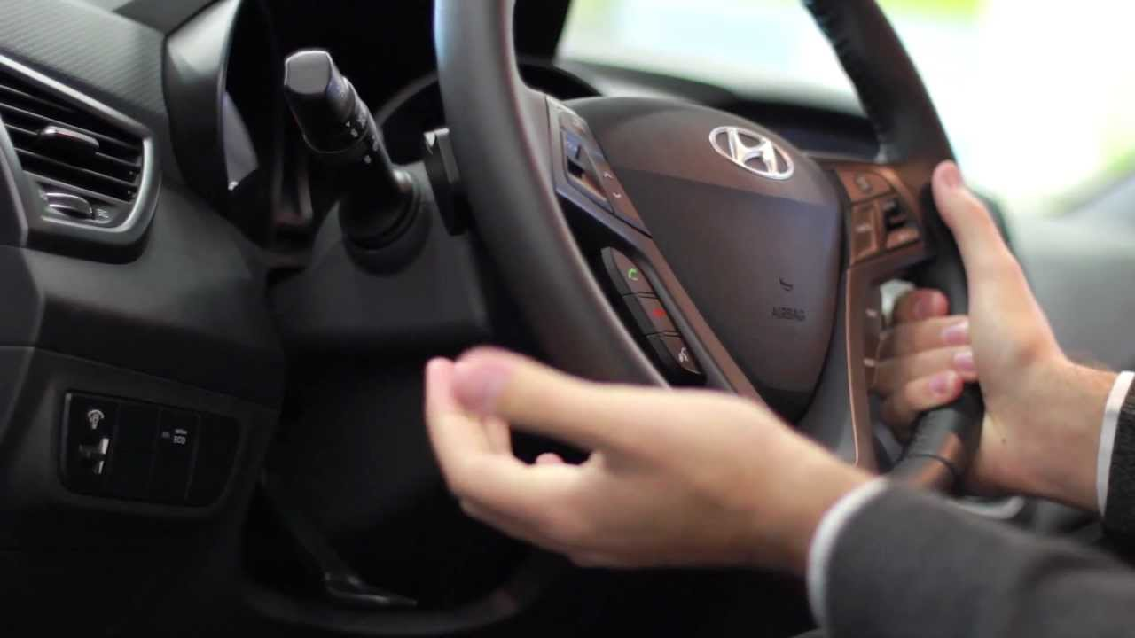 How To Adjust The Steering Wheel In A 2013 Hyundai