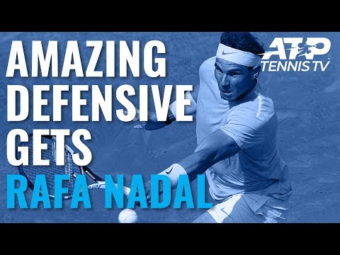 Rafael Nadal: Amazing Defensive Gets And Winners Compilation!