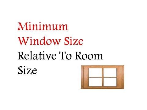 Minimum Window Size Relative To Room Size