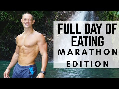 FULL Day of Eating | How to carb load for a Marathon