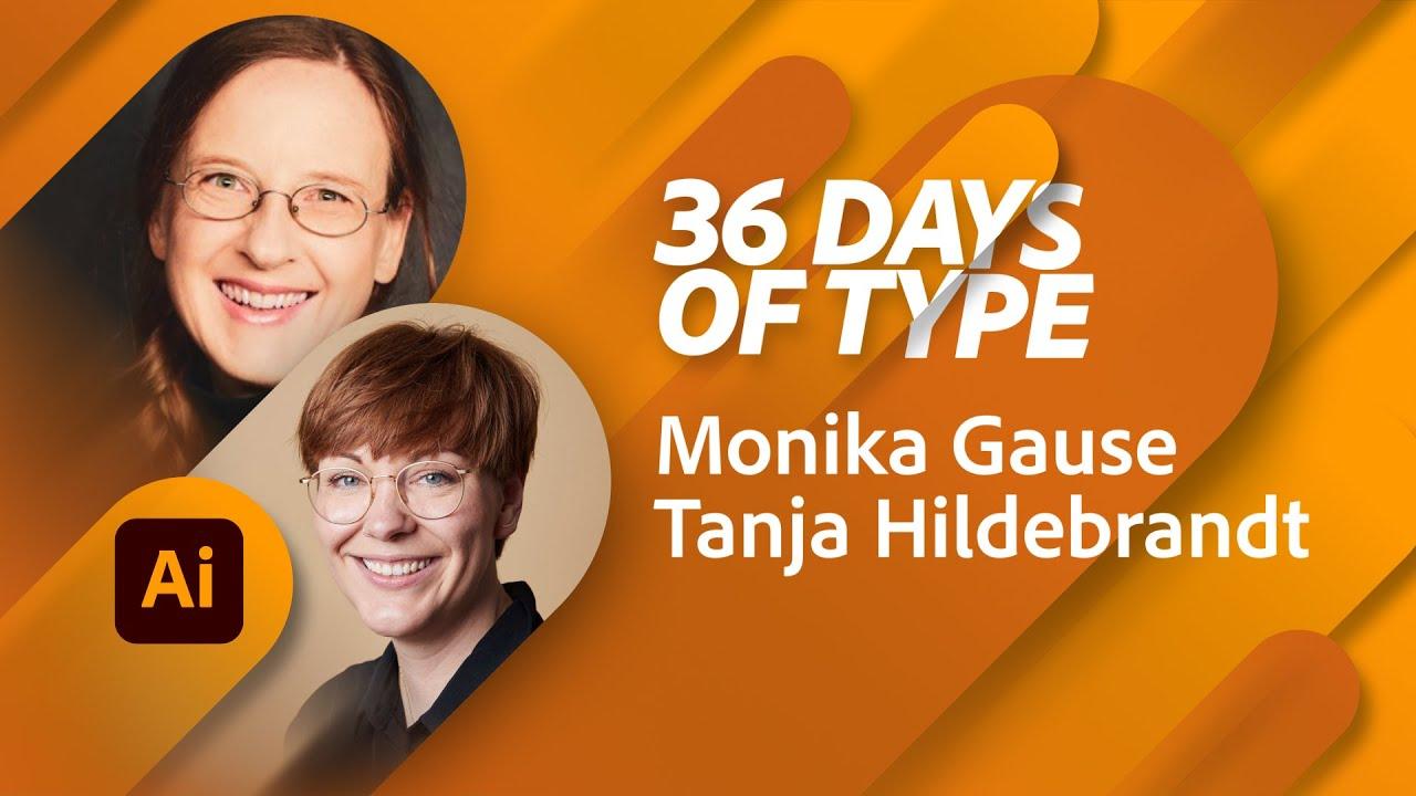 36 Days of Type mit Monika Gause und Tanja Hildebrandt |Adobe Live