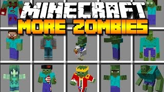 Minecraft MORE ZOMBIES MOD / MILLIONS OF CRAZY NEW HUMAN EATING ZOMBIES!! Minecraft