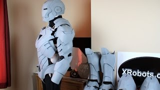 XRobots - Iron Man MK VI life size suit cosplay update, casting pieces in fibreglass and plastic