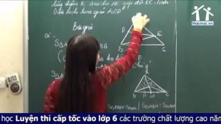 Luyện thi vào lớp 6 - Các bài toán về diện tích tam giác