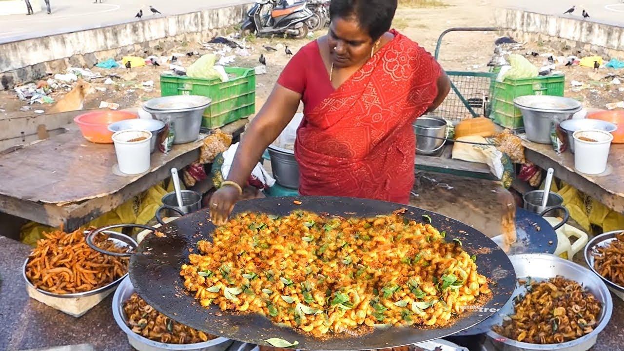 Big Pan Fried Shrimp | Prawns Fry | Street Food