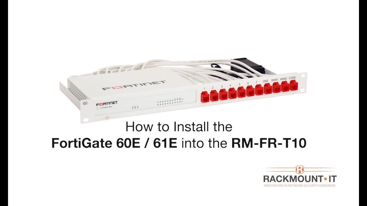 FortiGate 60E / 61E Rack Mount Kit Product Installation for Rackmount IT RM  FR T10