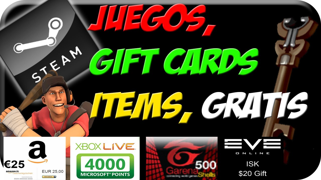 100 Real Juegos Gift Cards Items Gratis Steam Dota2 Tf2