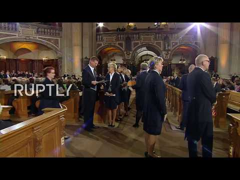 LIVE: Merkel And Steinmeier Attend Ecumenical Service At Berliner Cathedral On German Unity Day