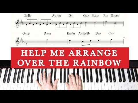 Interactive Piano Arranging Tutorial - You Decide - Over the Rainbow - Jacob Koller