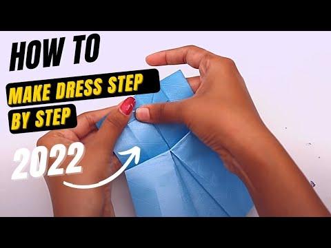How to Make a Cute Origami Paper Dress   Origami Paper Folding Craft,