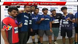 DGP Anurag Sharma Starts 10K Run at Peoples Plaza | Hyderabad| NTV