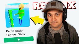 Baldi's Basics Obbys are REALLY WEIRD... | Roblox