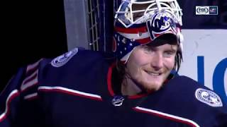 With Dad watching, Joonas Korpisalo comes up big for Columbus | BLUE JACKETS-STARS POSTGAME