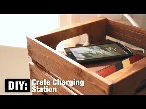 DIY: Crate Charging Station