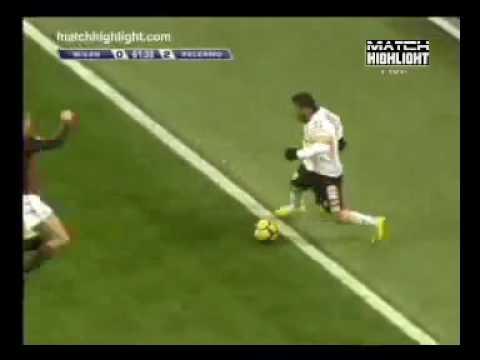 Milan - Palermo 0-2 Bresciano 131209.mp4