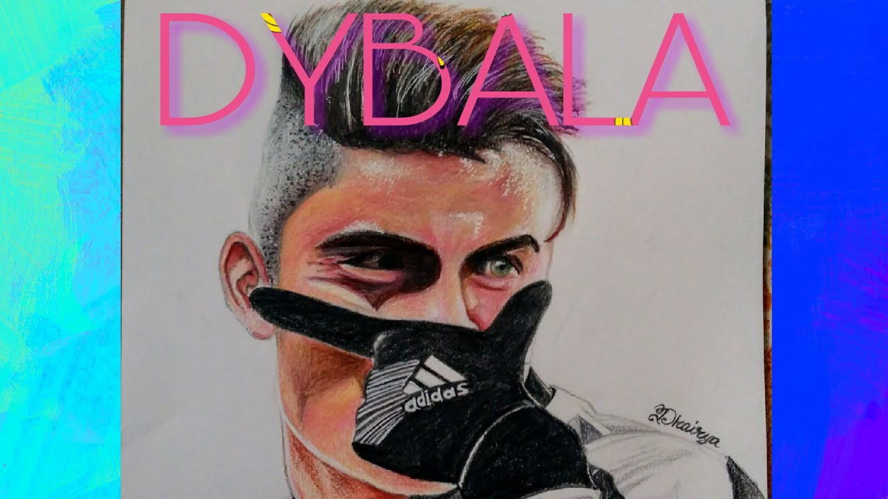 Drawing PAULO DYBALA In Colour Pencils