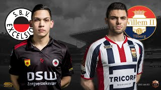 Gambar cover Danny Hazebroek - Daniel Kuipers | SBV Excelsior - Willem II | Speelronde 24 | E-Divisie