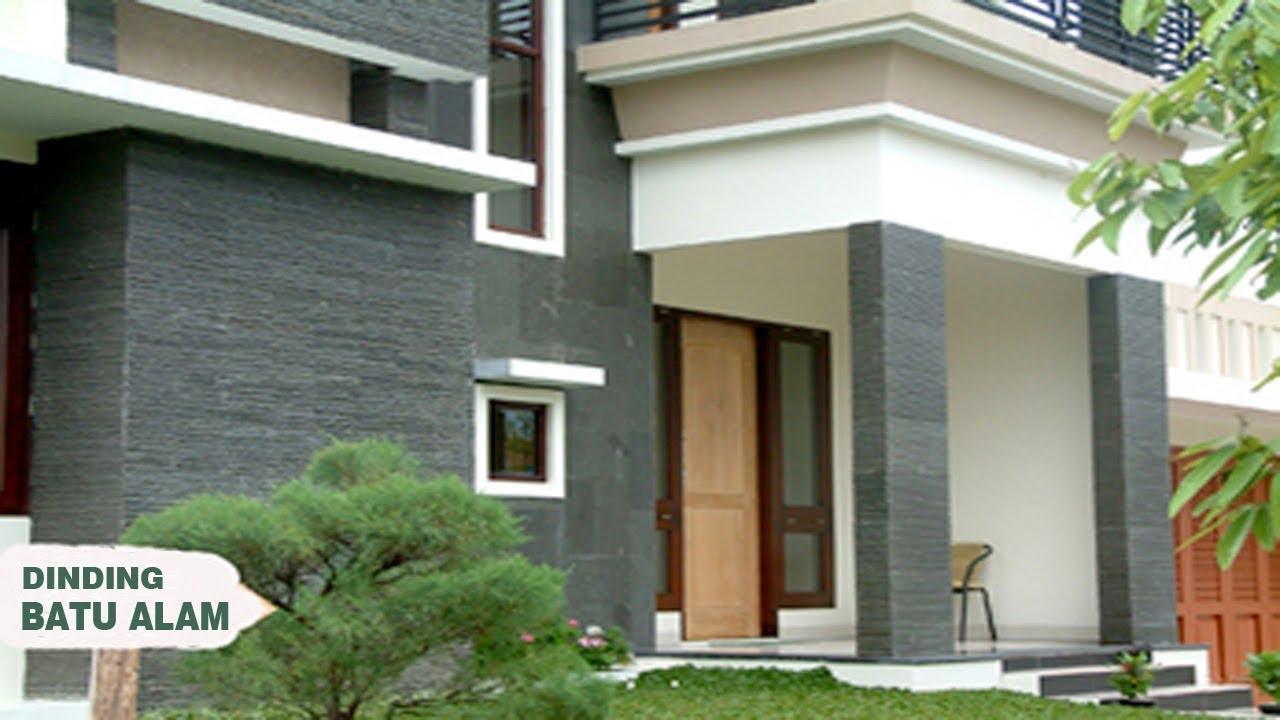 24 Ide Dinding Batu Alam Teras Depan Rumah Minimalis Modern Youtube