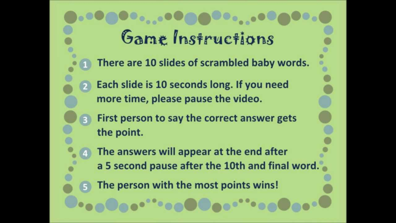 Virtual Baby Shower Game Baby Word Scramble 1 0 By Carbon