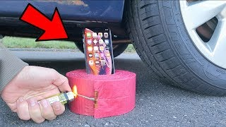 iPhone XS vs 1000 Firecrackers vs CAR