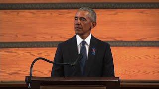 Barack Obama pays tribute to John Lewis at funeral