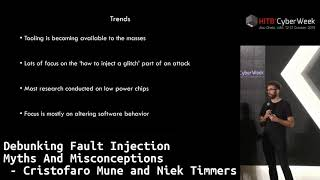 #HITBCyberWeek D1T1 - Debunking Fault Injection Myths And Misconceptions - C. Mune and N. Timmers