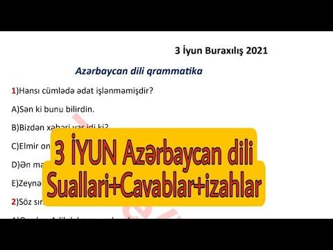 3 iyul -INGILIS DILI Buraxilis imtahani - 9cu sinif