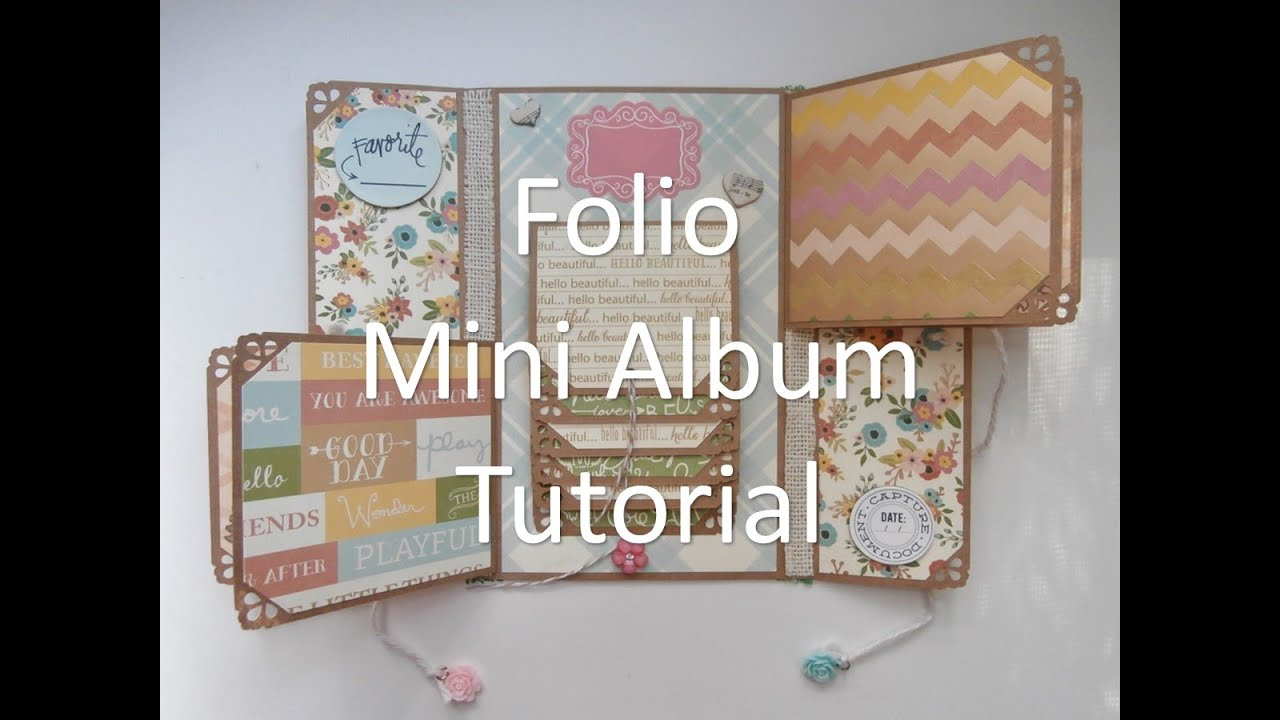 mother 39 s day folio mini album tutorial youtube. Black Bedroom Furniture Sets. Home Design Ideas