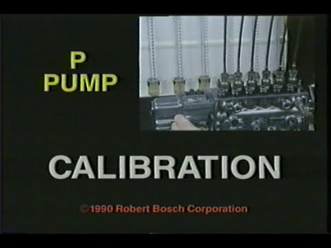 BOSCH P-Pump Calibration