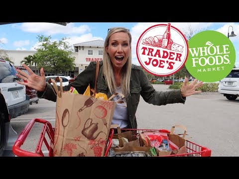 Massive Trader Joe's and Whole Foods grocery HAUL!