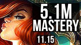 MISS FORTUNE \u0026 Karma vs EZREAL \u0026 Seraphine (ADC) | 9/0/12, 5.1M mastery | NA Diamond | v11.15