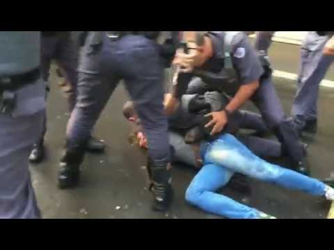 Violent Clashes Between Protesters And Police In Sao Paulo Brazil After Rousseff Is Impeached