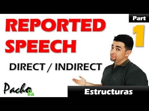 Cómo usar Direct / Indirect Speech – Reported Speech Clase 1 Reglas