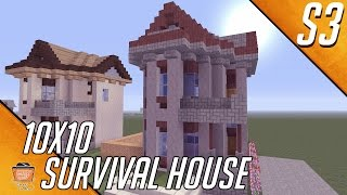 Let S Build An Awesome 10x10 House In Minecraft House 4 Season 3 1 Youtube