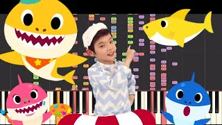 IMPOSSIBLE REMIX - Baby Shark Dance - PINKFONG - Piano Cover