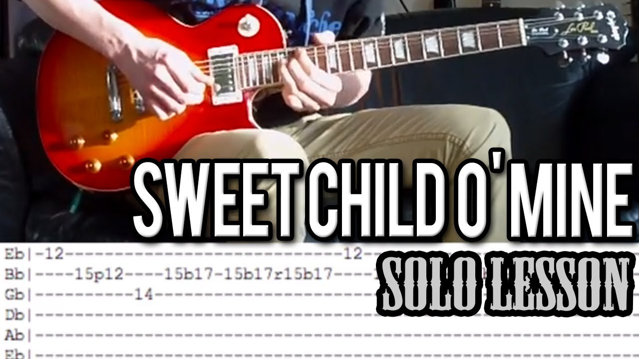 guns n 39 roses sweet child o 39 mine solo guitar lesson with tabs youtube. Black Bedroom Furniture Sets. Home Design Ideas