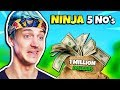 NINJA REVEALS THE THINGS HE WOULD NOT EVEN DO FOR $1,000,000 | Fortnite Daily Funny Moments Ep.224