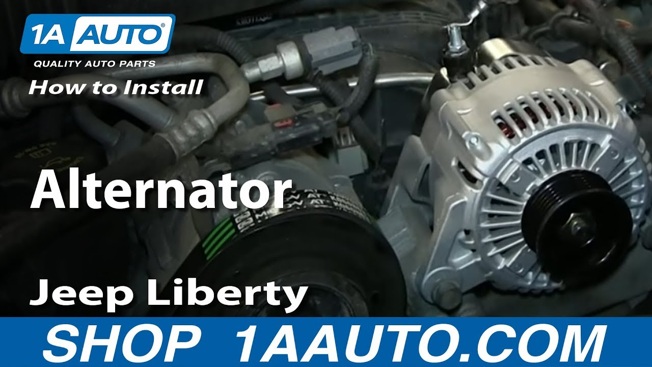 How To Install Replace Remove Alternator 200407 Jeep Liberty  YouTube