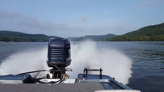 Javelin 396 FS with an Evinrude XP 200.
